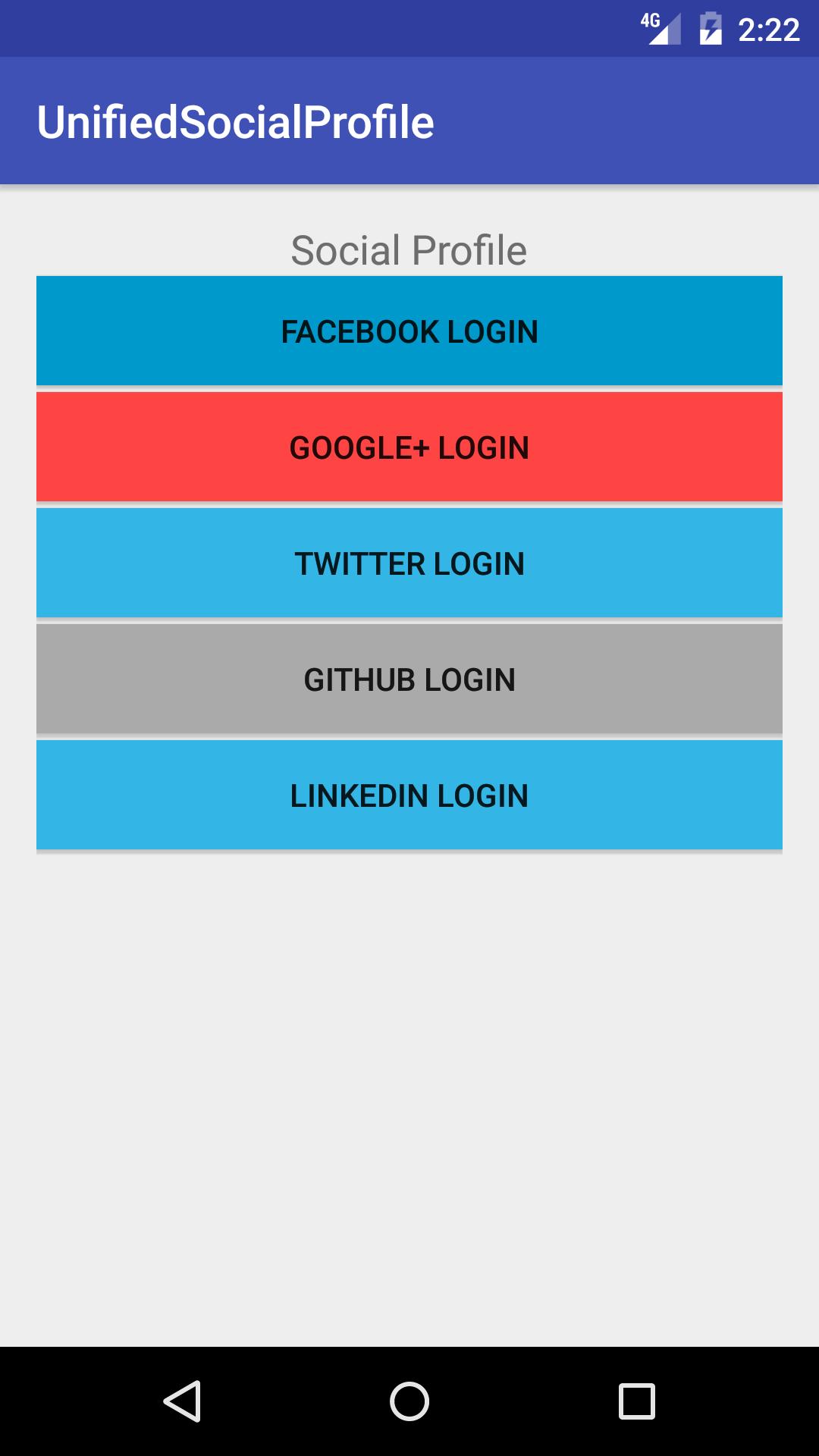 Log-In With [Facebook, Google, Twitter, Instagram
